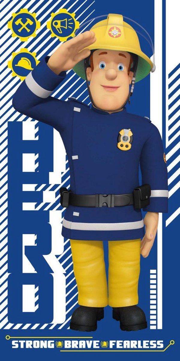 Brandweerman Sam Strandlaken - Blauw - - Brandweerman Sam