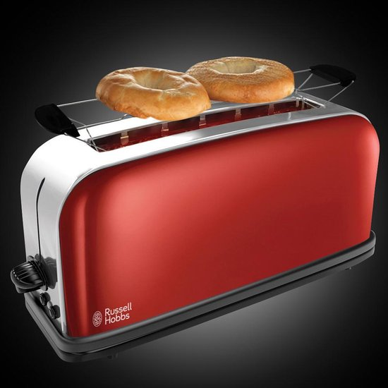 Russell Hobbs Colours Plus+ 21391-56 - Extra lange Broodrooster - Rood