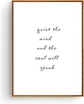Postercity - Design Canvas Poster Quiet the Mind / Kinderkamer / Babykamer - Kinderposter / Babyshower Cadeau / Muurdecoratie / 40 x 30cm / A3
