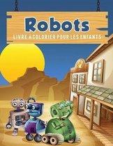 Robots livre a colorier pour les enfants