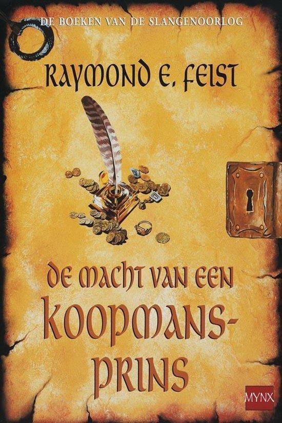Cover van het boek 'De macht van de koopmansprins' van Raymond E. Feist