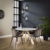 Davidi Design Skyler Eettafel - Naturel | Wit