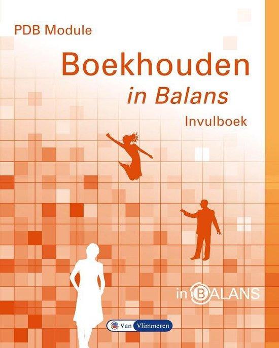 Boek cover In Balans  -   PDB module boekhouden in balans van Sarina van Vlimmeren (Paperback)