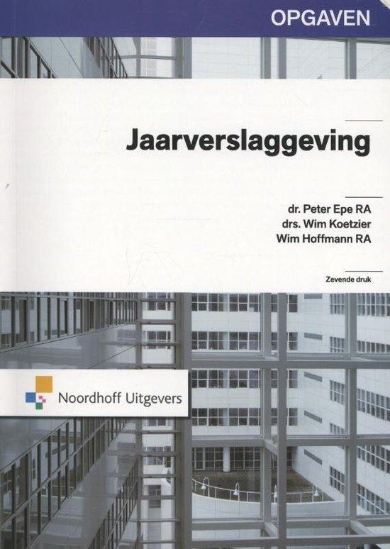 Boek cover Jaarverslaggeving van P. Epe (Hardcover)