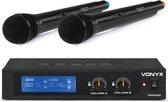 Draadloze microfoonset - Vonyx WM522 draadloze VHF microfoonset met 2 handmicrofoons