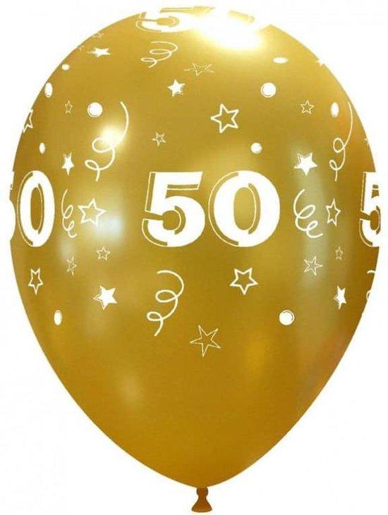 50 jaar GOUD 33cm - per 10 stuks