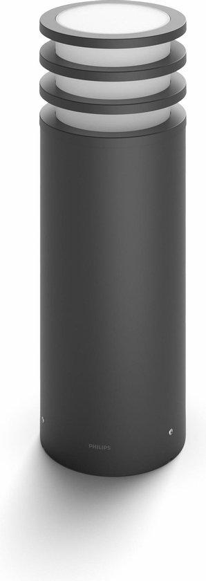 Philips Hue Lucca Sokkellamp - White - 1 Lichtpunt - antraciet - laag - Buiten