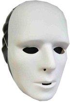 Set van 4x stuks grimeer maskers wit - Om zelf te beschilderen - gezichtsmaskers - Voor kinderen en volwassenen
