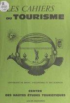 Omslag Tourisme et société