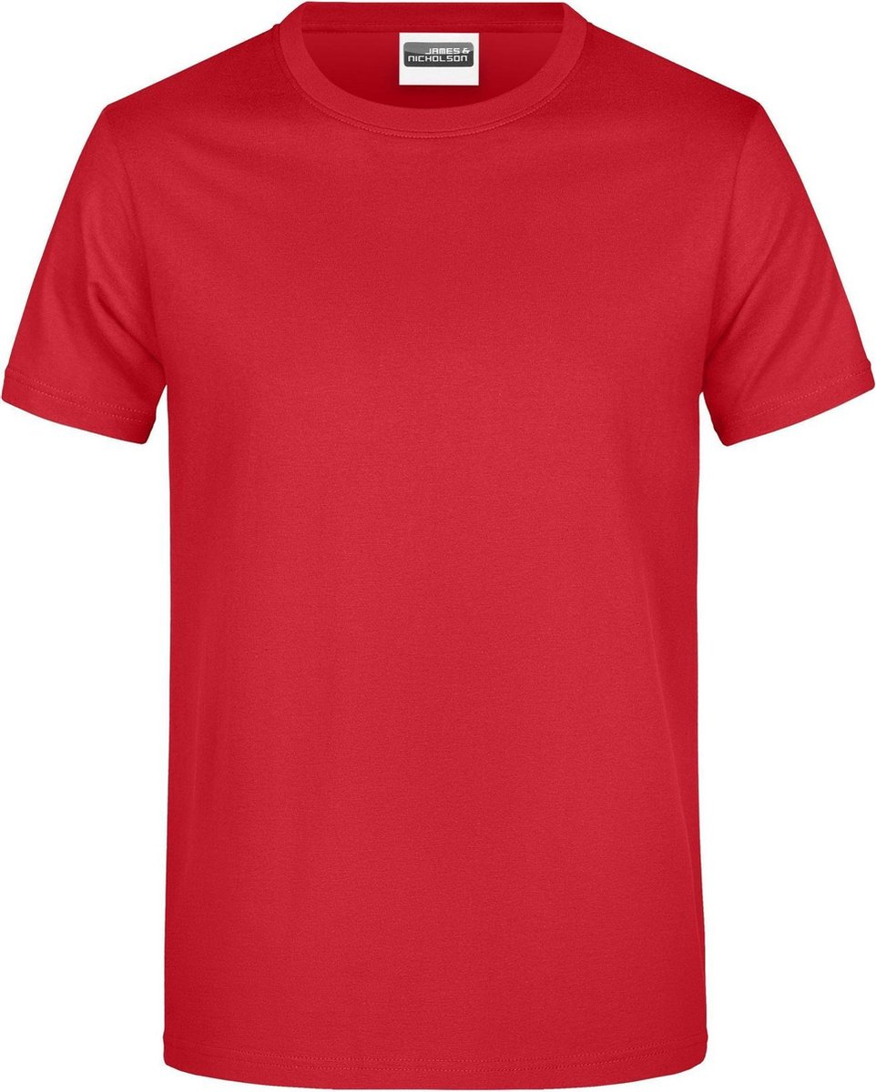 James And Nicholson Heren Ronde Hals Basic T-Shirt (Rood)