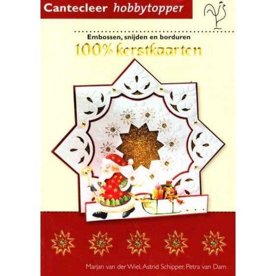 Cover van het boek '100% kerstkaarten' van Marjan van der Wiel en Petra van Dam