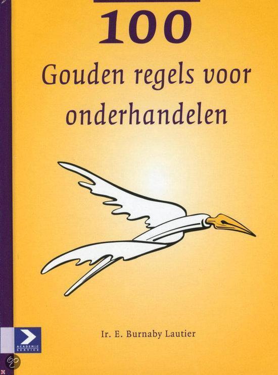 Cover van het boek '100 Gouden regels voor onderhandelen' van E. Burnaby Lautier