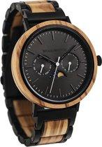 De officiële WoodWatch | Carbon Olive | Houten horloge heren