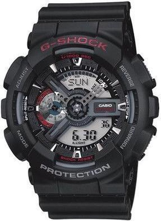 Casio G-Shock GA-110-1AER Horloge - Kunststof - Zwart - Ø 51 mm
