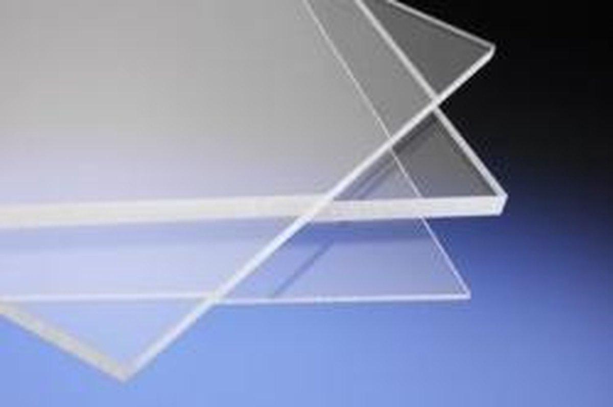 Kunststof Glas |Plaat | Kunstglas | Platen |Hobbyglas | Beglazing | Noodruit | 2mm, 50x50cm - Merkloos