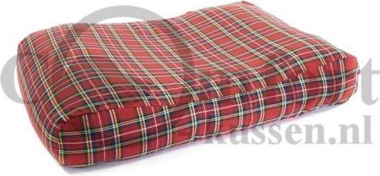 Hondenkussen Schotse ruit rood 100x75x15 cm