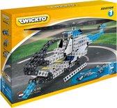 Twickto bouwset - speelvoertuig - Luchtvaart - 319 delig - blauw en grijs