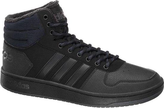 adidas Heren Zwarte Hoops 2.0 Mid - Maat 43 1/3