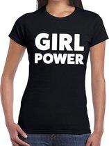 Girl Power tekst t-shirt zwart dames - dames shirt  Girl Power L