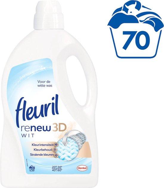 Fleuril Puur Wit wasmiddel - 70 wasbeurten - Kwartaalverpakking