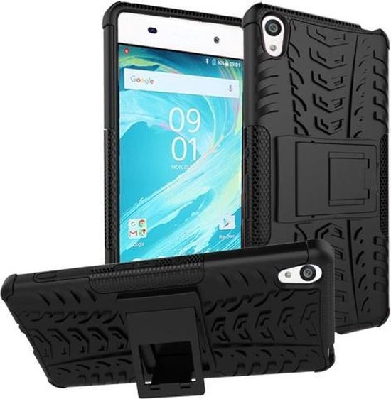 Kickstand Armor TPU Hybrid hoesje zwart Sony Xperia XA