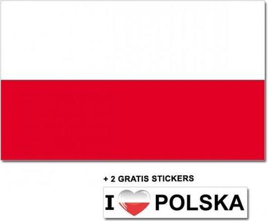 Poolse vlag met 2 gratis Polen stickers