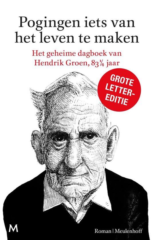 CD cover van Pogingen iets van het leven te maken | Grote lettereditie van Hendrik Groen