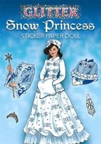 Glitter Snow Princess Sticker Paper Doll