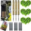 Afbeelding van het spelletje Michael van Gerwen 100% Brass 23 gram inclusief 3 sets van Gerwen darts flights en darts shafts