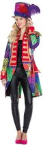 Circus Kostuum | Patchwork Jas Dompteur Afrika Vrouw | Maat 44 | Carnaval kostuum | Verkleedkleding