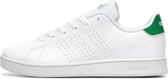 adidas Advantage Jongens Sneakers - White/Green/Grey Two - Maat 34