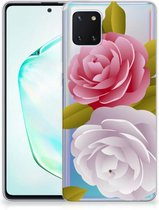 Back Cover Samsung Note 10 Lite TPU Siliconen Hoesje Roses