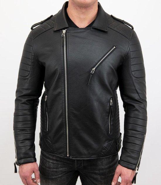 leren jas heren zwart motorjack