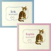 Borduurpakket Geboortetegel: Erik/Sophie poes