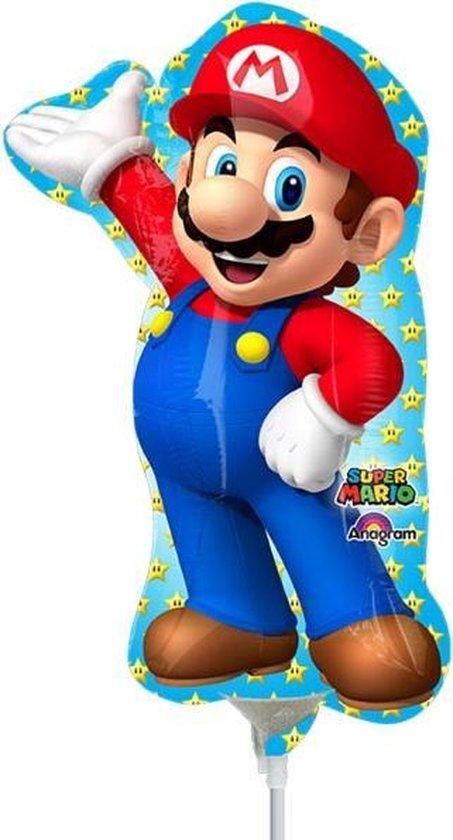 Kleine aluminium Super Mario™ personage ballon - Feestdecoratievoorwerp