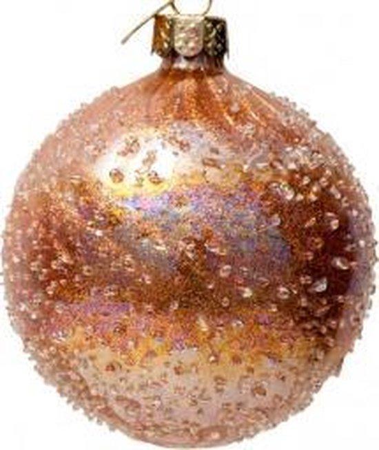 Vondels Luxe gouden kerstballen| manderin Oil| 6 stuks |8 cm