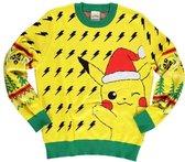 Pok�mon Kersttrui -M- Christmas Pikachu Multicolours