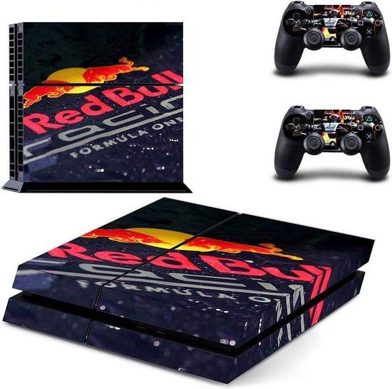 Red Bull Racing – PS4 Skin – 1 console en 2 controller stickers – geschikt voor Playstation 4