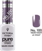 VICTORIA VYNN™ Gel Nagellak - Gel Polish - Pure Creamy Hybrid  - 8 ml - Velvet Night  - 100
