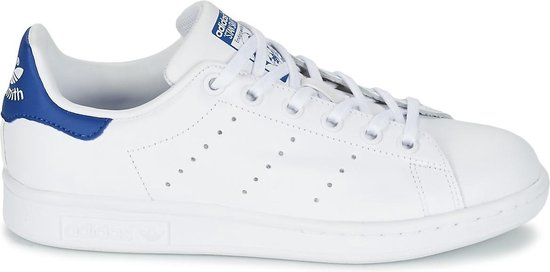 adidas Stan Smith J Sneakers - Cloud White/Cloud White/Eqt Blue - Maat 37 1/3