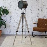 Dimehouse Daxon Industriële Vloerlamp - Antraciet - Zwart