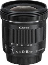 Canon EF-S 10-18mm f/4.5-5.6 IS STM - Zwart