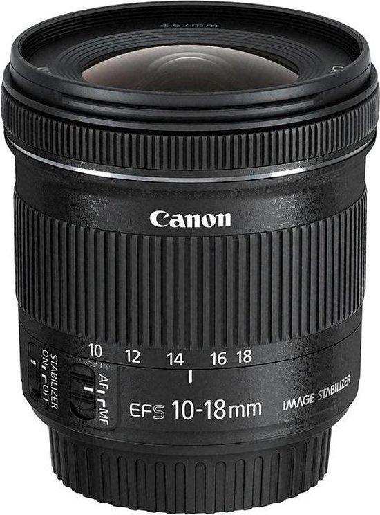 Canon EF-S 10-18mm f/4.5-5.6 IS STM - Zwart