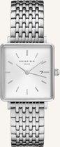 Rosefield The Boxy Dames Horloge - Zilver - QWSS-Q08