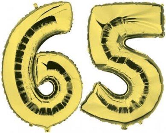 65 jaar folie ballonnen goud