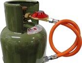 Gimeg Gasdrukregelaarset Afblaasbeveiliging - 30 mbar - Kombi X 1/4 inch links - Slang 60 cm