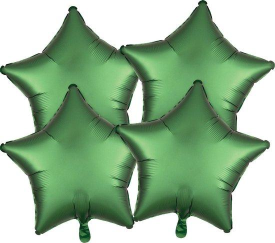 Amscan Folieballonpakket Satin Luxe Ster 43 Cm Matgroen 4 Stuks