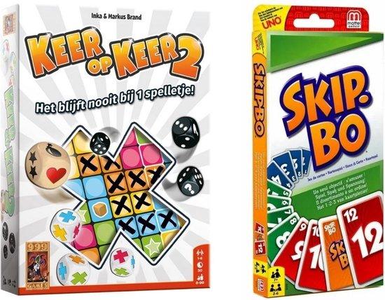 Afbeelding van het spel Spellenset - 2 stuks - Keer op Keer 2 & Skip-Bo