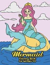 Mermaid Coloring Book for Girls 4-8
