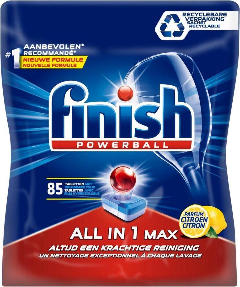 Finish All in 1 Max Citroen Vaatwastabletten - Kwartaalpak - 85 Tabs